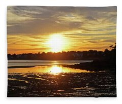 Sunset Over Lynch Park Beverly Ma Fleece Blanket