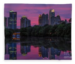Sunset Over Midtown Fleece Blanket