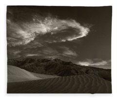 Sunset Over Sand Dunes Death Valley Fleece Blanket