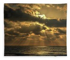 Sunset Over The Mediterranean 5 Fleece Blanket