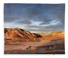 Sunset Paints The Desert Fleece Blanket