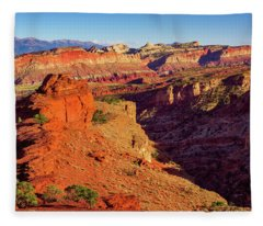 Sunset Point View Fleece Blanket