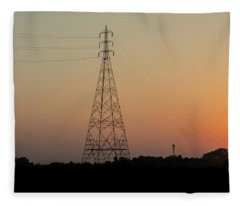 Sunset Pylons Fleece Blanket