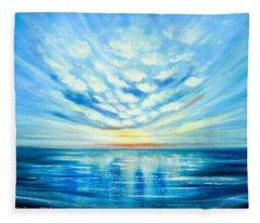 Sunset Quest Blue Fleece Blanket
