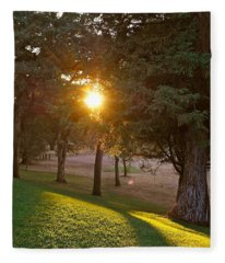 Sunset Retreat Fleece Blanket