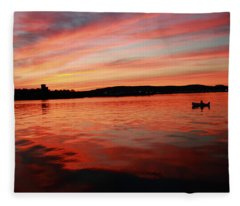 Sunset Row Fleece Blanket