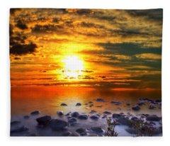 Sunset Shoreline Fleece Blanket