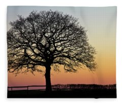 Fleece Blanket featuring the photograph Sunset Silhouette by Clare Bambers