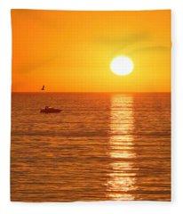 Sunset Solitude Fleece Blanket