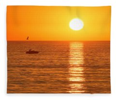 Sunset Solitude Fleece Blanket