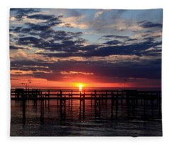 Sunset - South Carolina Fleece Blanket