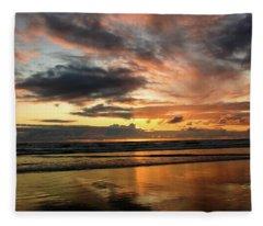 Sunset Split Fleece Blanket