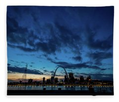 Sunset St. Louis IIi Fleece Blanket