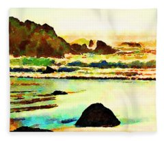 Sunset Surf Fleece Blanket