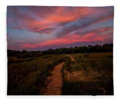 Sunset Trail Walk Fleece Blanket