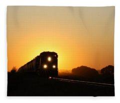Sunset Express Fleece Blanket