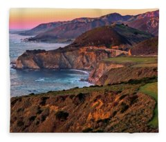 Sunset View From Hurricane Point Fleece Blanket