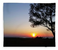 Sunset View From Knights Of Columbus' Deck Fleece Blanket
