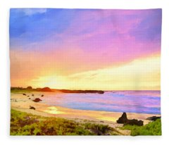 Sunset Walk Fleece Blanket