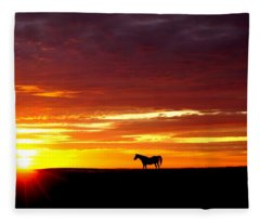 Sunset Watcher Fleece Blanket