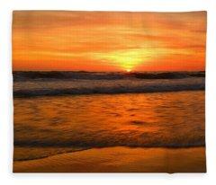Cardiff Waves Fleece Blanket