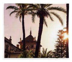 Sunsets Of Seville  Fleece Blanket
