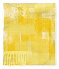 Sunshine- Abstract Art Fleece Blanket