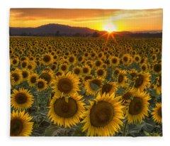 Sunshine And Happiness Fleece Blanket