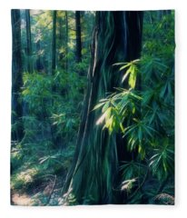 Sunshine In The Forest Fleece Blanket