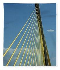 Sunshine Skyway Bridge - Color Fleece Blanket