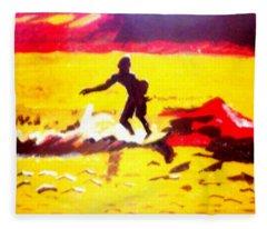 Sunsplashed Surf Fleece Blanket