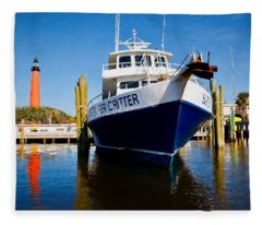 Super Critter And The Lighthouse Fleece Blanket