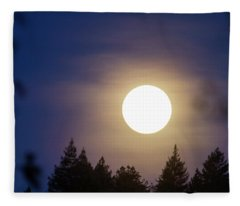 Super Full Moon Fleece Blanket