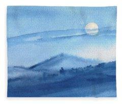 Super Moon Fleece Blanket