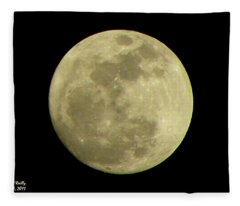 Super Moon March 19 2011 Fleece Blanket