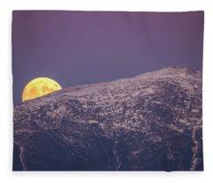 Super Moon Rising Fleece Blanket