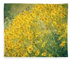 Superbloom Golden Yellow Fleece Blanket