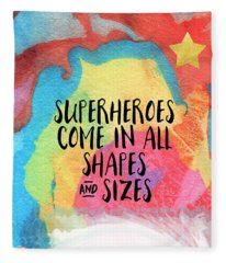 Superheroes- Inspirational Art By Linda Woods Fleece Blanket