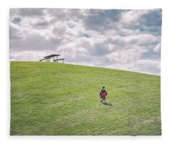 Superman And The Big Hill Fleece Blanket