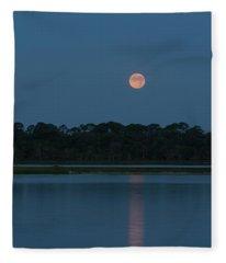 Supermoon Dawn 2013 #2 Fleece Blanket