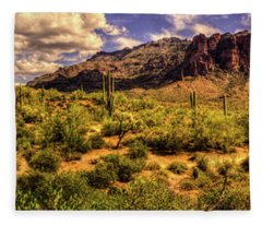 Superstition Mountain And Wilderness Fleece Blanket