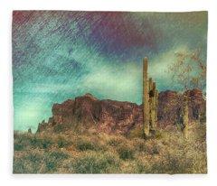 Superstition Mountain Fleece Blanket