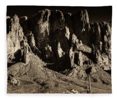 Superstition Mountain  Fleece Blanket