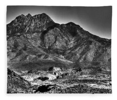 Four Peaks From Lost Dutchman State Park Fleece Blanket