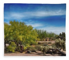 Superstition Mountains Fleece Blanket
