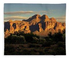 Superstitions At Sunset  Fleece Blanket