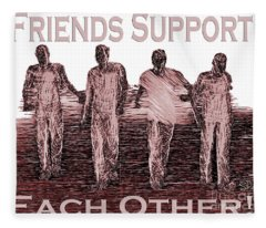 Support Friends In Bronze Fleece Blanket