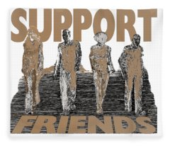 Support Friends Fleece Blanket
