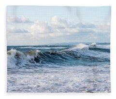 Surf And Sky Fleece Blanket