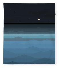 Surf At Night Fleece Blanket